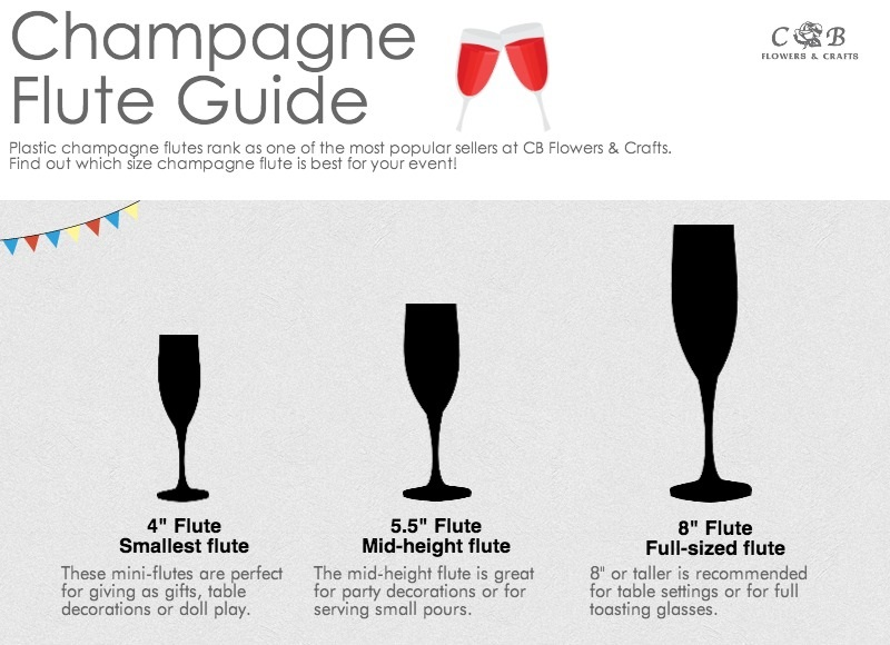Plastic Champagne Flute Guide Cb Flowers Crafts